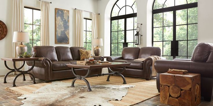 Living Room Furniture, Leather Living Room Groupings
