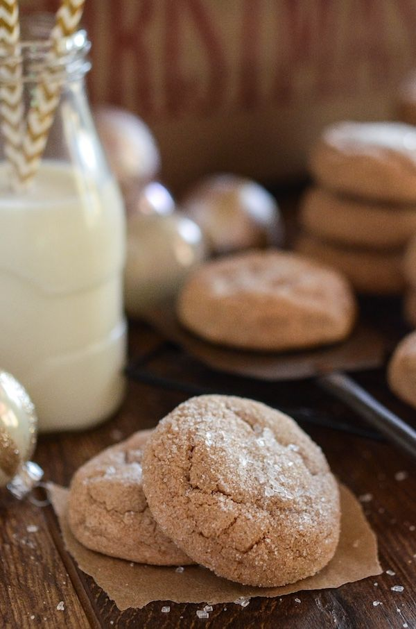 Spice Cake Cookies: super easy soft holiday cookies made with a box of spice cake mix.