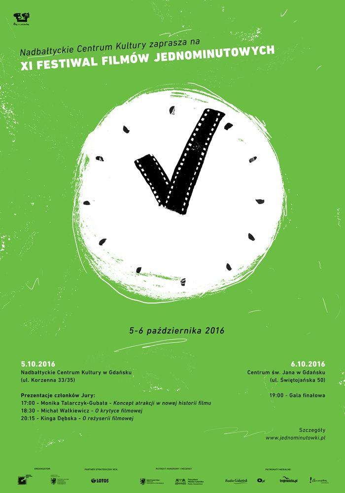 Plakat promujący XI Festiwal Filmów Jednominutowych