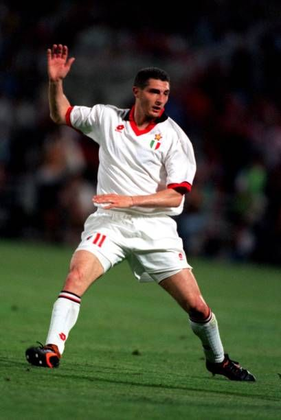 Daniele Massaro: Fútbol UEFA Champions League Final Atenas Grecia 18 de mayo de 1994 AC Milan 4 en Barcelona 0. Donde marco 2 goles