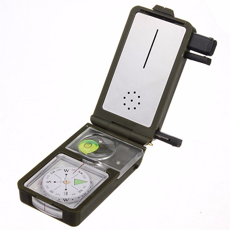 Outdoor Multifunction 10 in 1 Military Camping Survival for Compass With Hygrometer Led Light Thermometer Flint Fire Starter