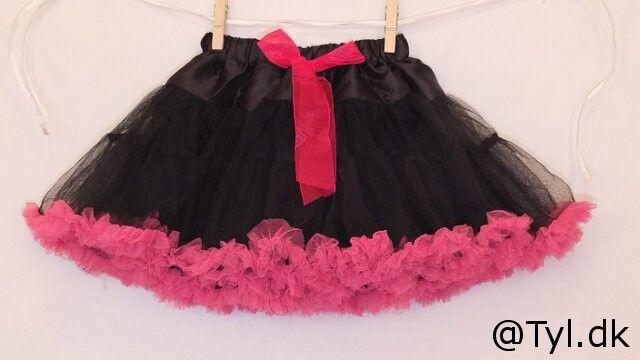 Tylskørt - sort/pink