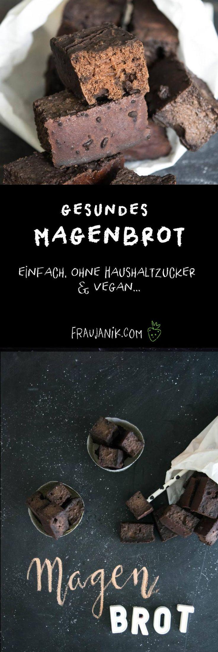 Gesundes Magenbrot- einfach, ohne Haushaltzucker & vegan... Gesunder Lebkuchen wie auf der Herbstmesse Basel. Schnell und einfach gemacht! #magenbrot #lebkuchen #weihnachten #gesund #backen
