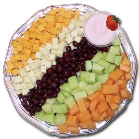 Fruit and Cheese Platter.  I could snack on this all day!