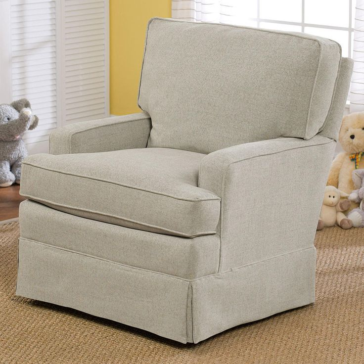 The Charlotte Upholstered Swivel Glider by Best Chairs makes the perfect place to sit back and bond with baby. The quality upholstery and welcoming design of the chair provide versatility, blending seamlessly into almost any room's decor. The Charlotte Upholstered Swivel Glider features a gentle gliding motion that's sure to calm baby and parent alike! Thick cushioning in the seat and seat back, and padded arms offer the utmost in comfort. Best Chairs' gliders combine high-quality bearings…