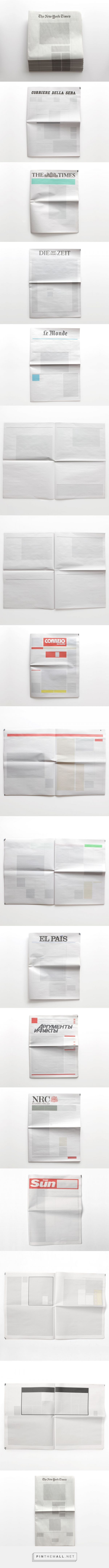 NOTHING IN THE NEWS: Newspapers from around the world with nothing in them. // by Joseph Ernst of the Sideline Collective