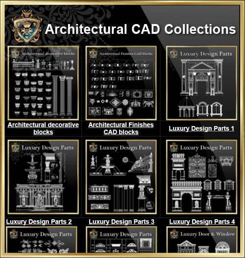 Architecture Decorative Elements CAD Collections High Quality DWG FILES Library For Architects