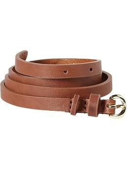 Old Navy Womens Skinny Faux-Leather Belt
