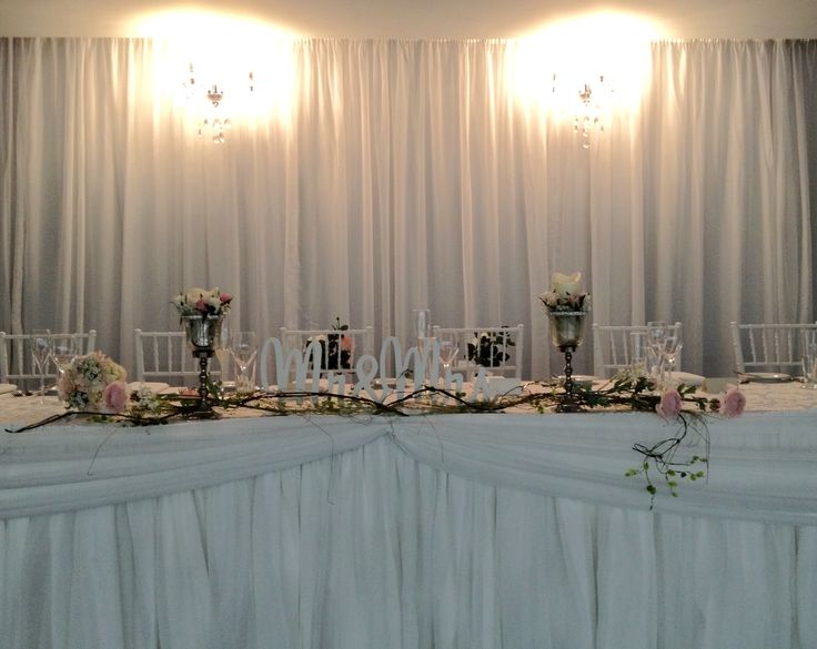 The bridal table.
