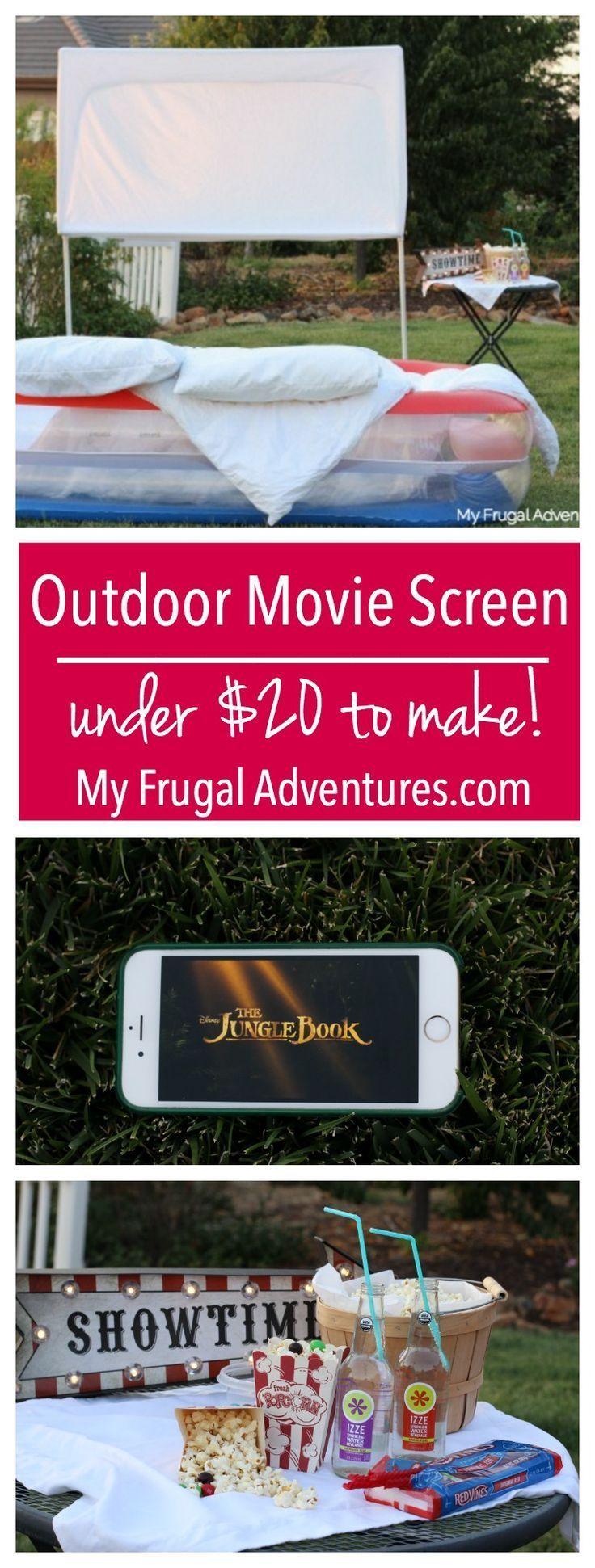 best 25 outdoor movie screen ideas on pinterest outdoor projector screen diy backyard movie. Black Bedroom Furniture Sets. Home Design Ideas