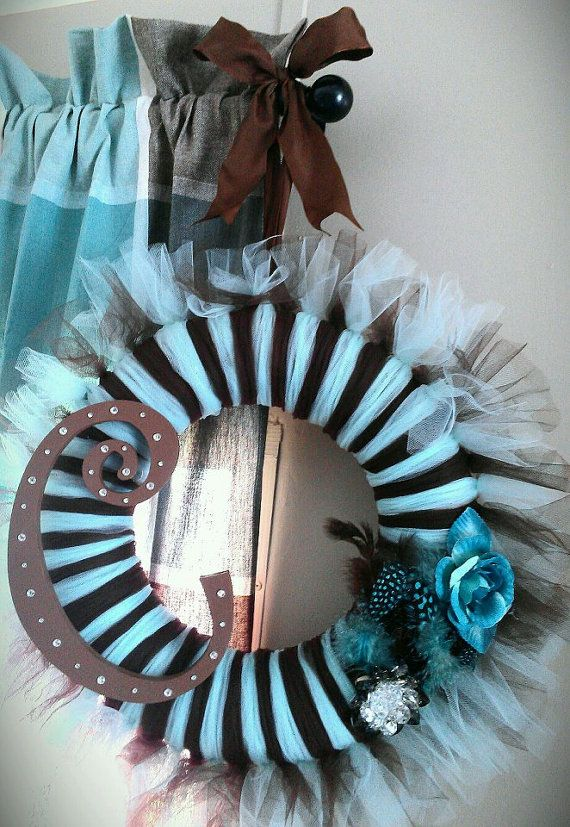 Tulle Wreath...  cute