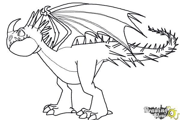 How To Draw A Deadly Nadder Dragon From How To Train Your Dragon