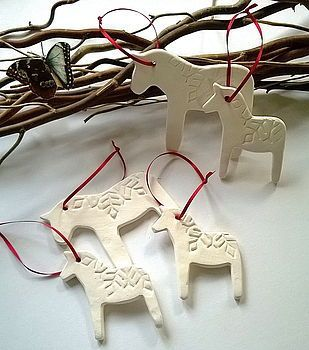 dala horse - I need this cookie cutter! Would be great on a Scandanavian Christmas tree!