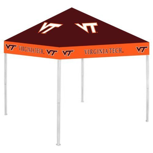 """NCAA Canopy NCAA Team: Virginia Tech by Rivalry. $189.99. RV424-5000 NCAA Team: Virginia Tech Features: -Canopy.-Easy to set up and to take down. Includes: -Includes a carry bag and ground stakes for extra stability. Color/Finish: -Officially licensed team colors and logos. Dimensions: -Dimensions: 6"""" H x 9"""" W x 9"""" D. Collection: -NCAA collection."""