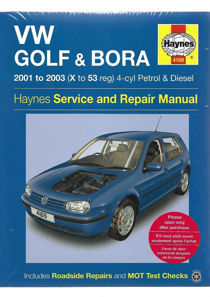Haynes New Sealed Vw Golf N Bora 2001 2003 Service And Repair Manual Petrol Derv In 2020 Repair Manuals Repair Vw Golf