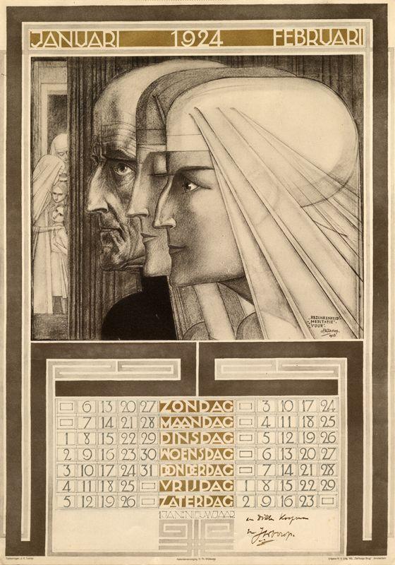 Jan Toorop's Calendar - Januari - Februari 1924