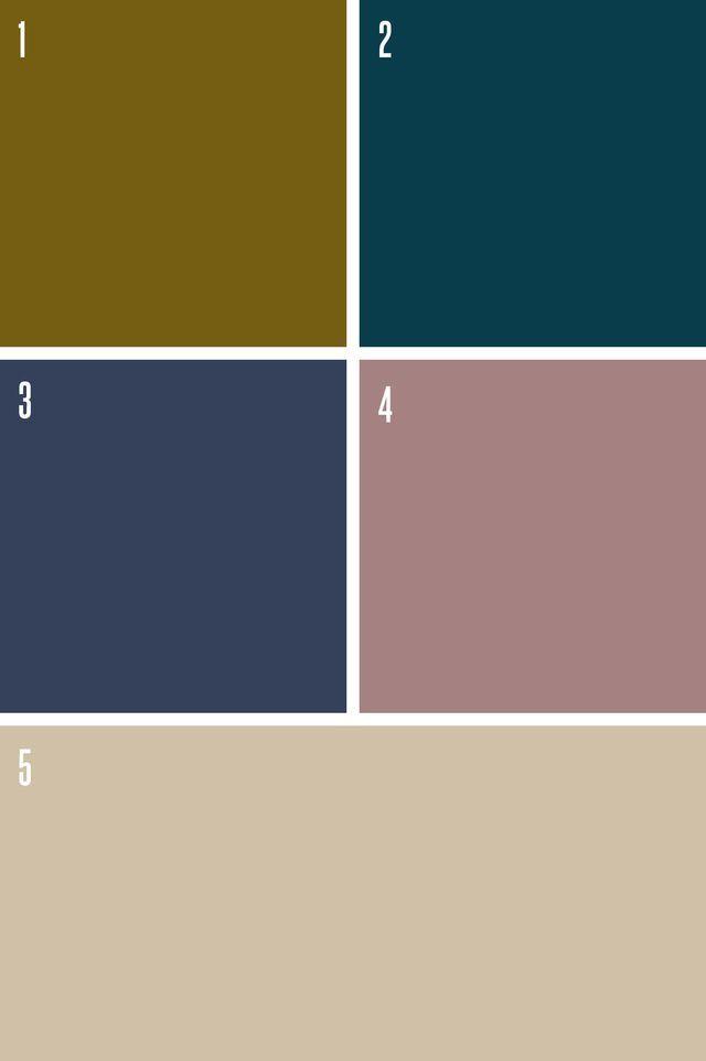 Peinture couleurs ultra tendance, couleurs sombres