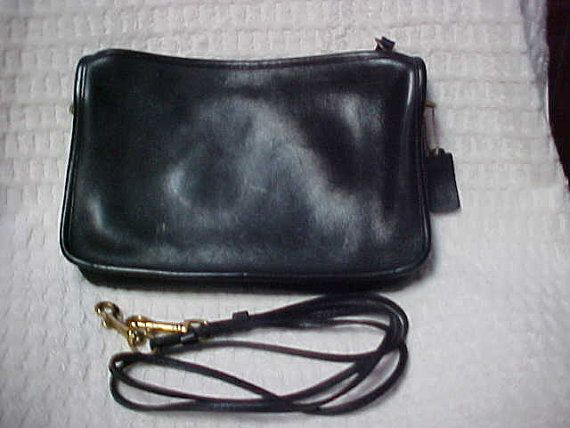 Black leather coach shoulder bagclutch cross body by designer2, $60.00