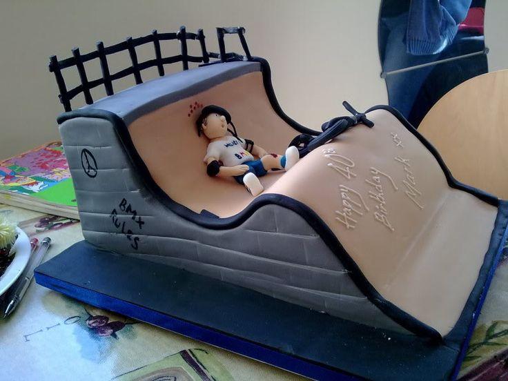BMX Racing Cake  My Birthday