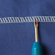 Step by step tutorial showing you how to easily unpick an overlocked seam. It's as easy as unpicking a regular seam!