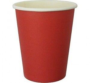 Kubeczki papierowe w kolorze czerwonym.  Idealne do dekoracji na urodziny lub grill party.