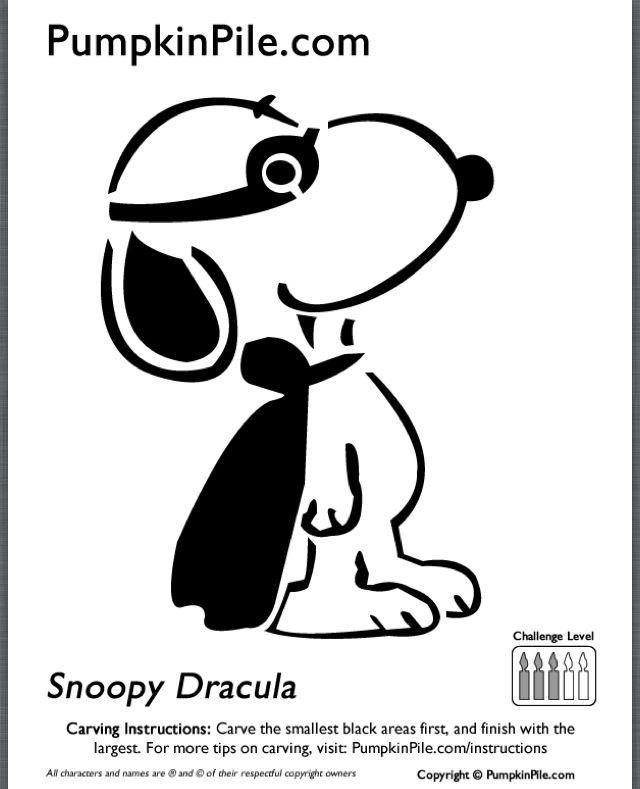 Snoopy Halloween Stencil Snoopy pumpkin stencil. via julie pead