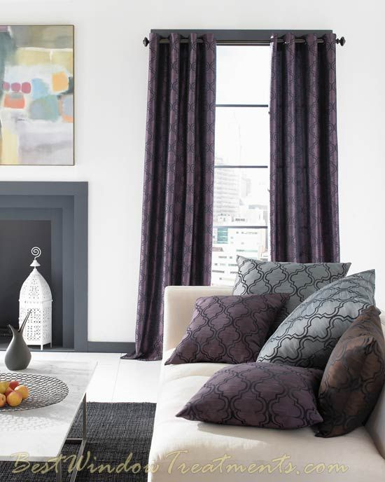 43 best window space images on pinterest sheet curtains - Modern curtain panels for living room ...