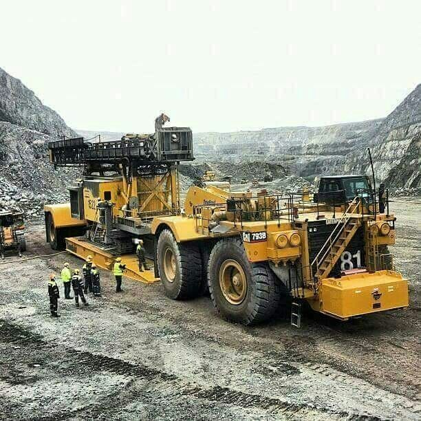 Semitrckn Cat 793b Heavy Haul Heavy Equipment Heavy Construction Equipment Mining Equipment