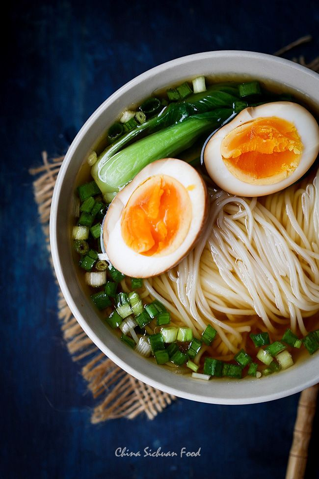 deluxe yang chun noodles with soy sauce eggs