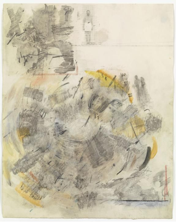 Canto V: Circle Two, The Carnal, from the series Thirty-Four Illustrations for Dante's Inferno | Robert Rauschenberg Foundation