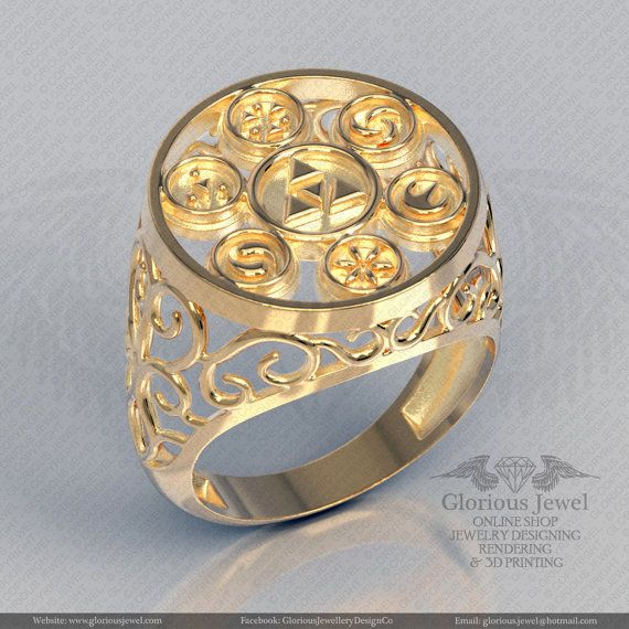 Glorious legend of Zelda hyrule triforce inspired OOAK ring /