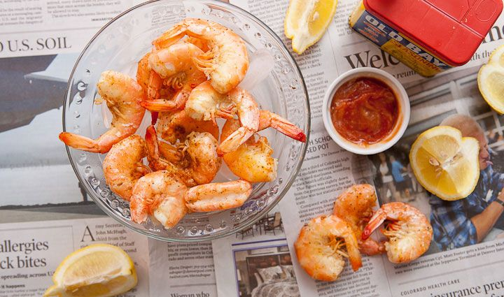How to Steam Shrimp: A quick and easy step-by-step guide that results in perfectly cooked shrimp every time! Plus a super easy trick for peeling them!
