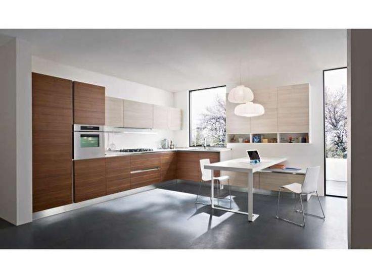 Cucine bicolore - Cucina in divere essenze Cucina - plana küchenland münchen