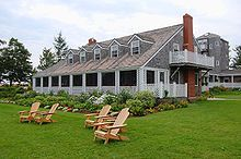 Colleen Dewhurst home in Fortune Bridge, Prince Edward Island.  It was built by the playwright Elmer Blaney Harris.  It is now a private inn.  (2008)