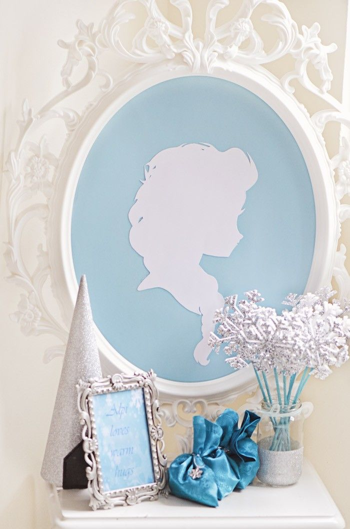 Frozen Themed Birthday Tea Party via Kara's Party Ideas KarasPartyIdeas.com Banners, decor, garland, desserts, cake, cupcakes, and more!
