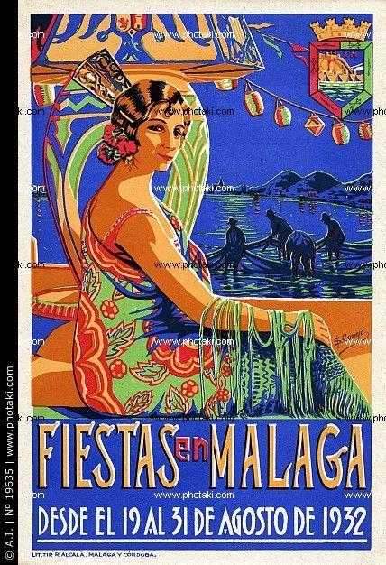 Cartel de las Fiestas de Málaga de 1932