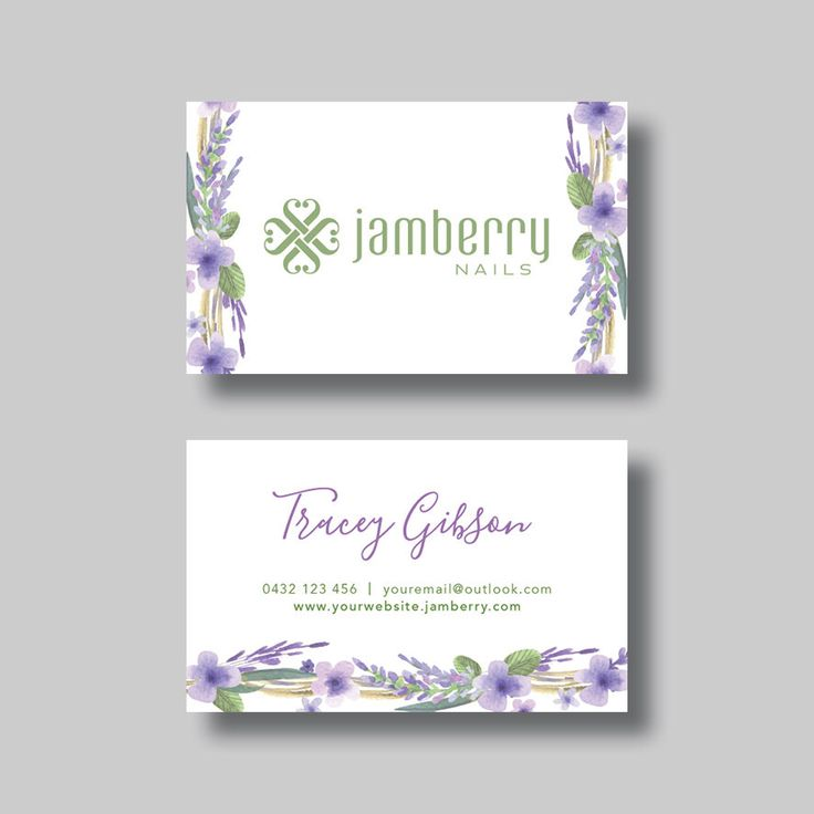 Jamberry Nails Business Card (Floral) - Digital Design by BellGraphicDesigns on Etsy https://www.etsy.com/au/listing/400436503/jamberry-nails-business-card-floral