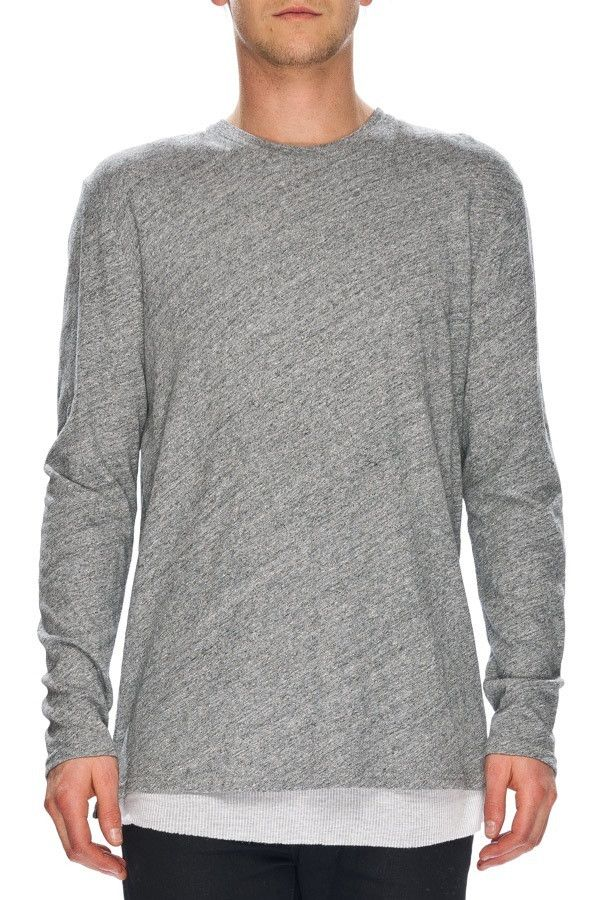 NEUW - Ren Long Sleeve Tee Grey Marle