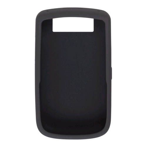 BlackBerry Silicone Rubber Gel Skin Cover Wrap for BlackBerry Tour 9630 (Black)