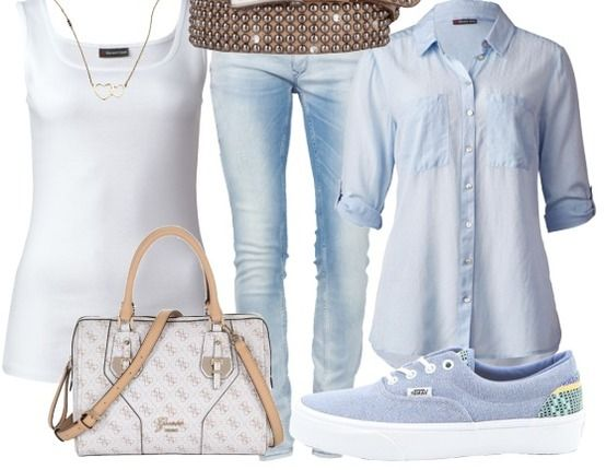 Lichtblauw - Casual Outfits - stylefruits.nl