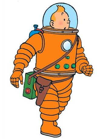 Tintin a la Lluna.