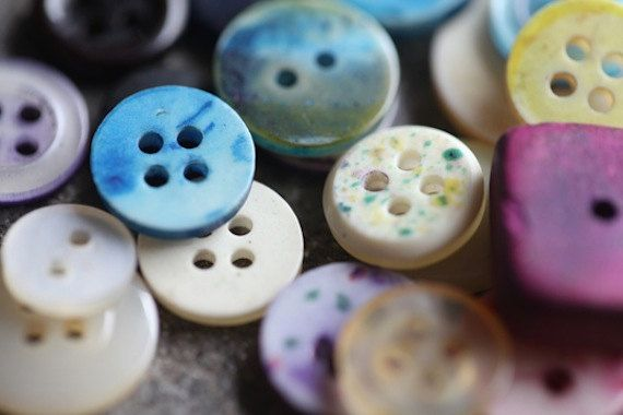Brazilian Mix of Buttons Vintage Round Buttons by TheRainbowFarmer