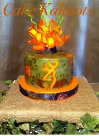 camo cakes for girls | camo cake for girls repinned from birthday cakes by cake kakoots