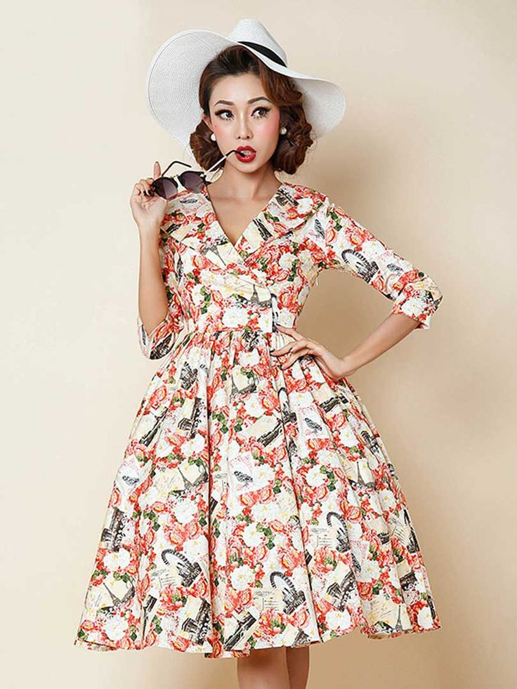 http://www.choies.com/product/multicolor-v-neck-peony-and-postcard-print-skater-dress_p61318