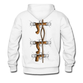 SELF HUGGER STRAIGHT JACKET Men's Premium Hoodie - white ...