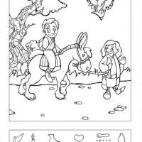 The Good Samaritan hidden pictures coloring page: 2013 Kids, Anthem Kids, Homeschool Bible Character, Church Sunday School, Craft, Sunday School Vbs, Pictures Coloring, Bible Hidden Pictures