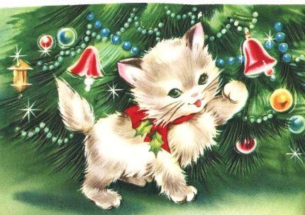 Inspiração de cartões de natal vintage                                                                                                                                                                                 Mais