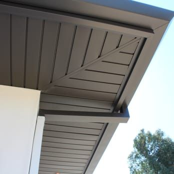 Interlocking Aluminum Soffit Panels Angle Face Gutters Custom Downspouts Temecula Ca Yelp In 2020 Exterior House Renovation Roof Architecture Exterior Remodel