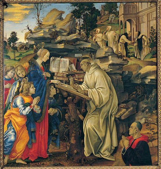 Apparizione della Vergine a san Bernardo (1484-85; Firenze, Badia)