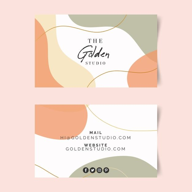 Download Business Card Template With Pastel Colored Stains For Free Graphic Design Cards Graphic Design Fun Business Card Template Design